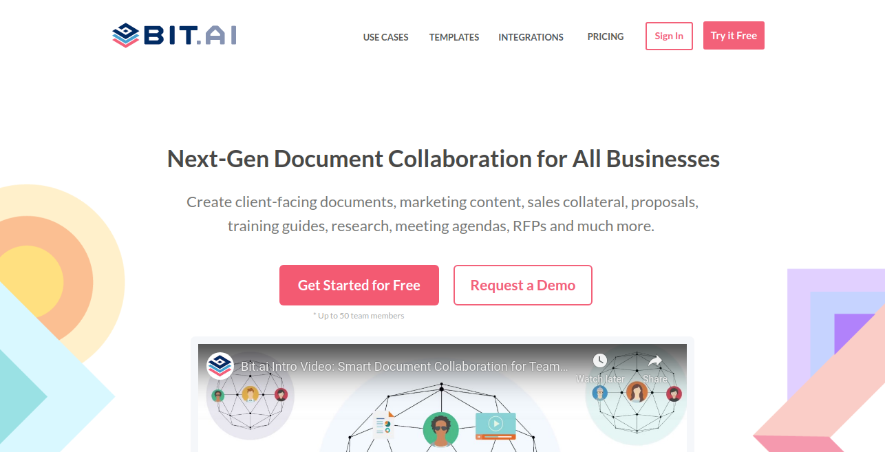 Collaboration software Bit.ai