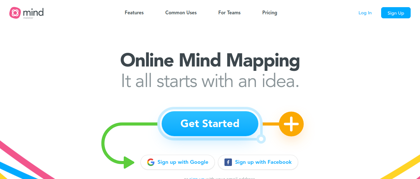 MindMeister collaboration software to plan projects