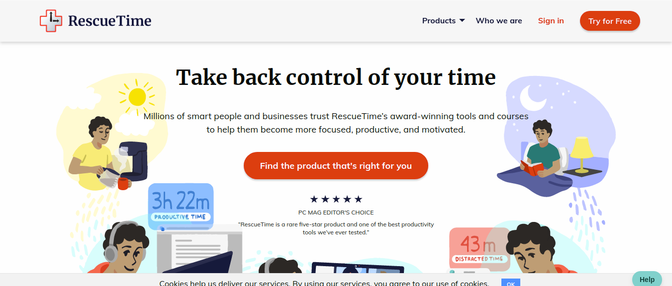 RescueTime as time management tool