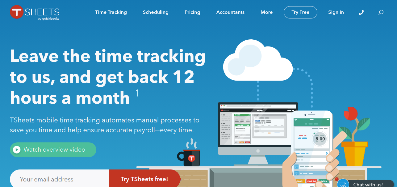 TSheets  as time management tool