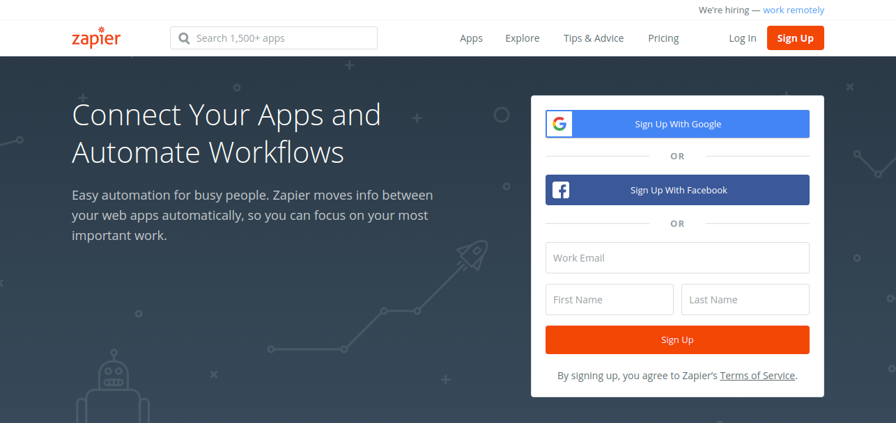 Zapier as time management software