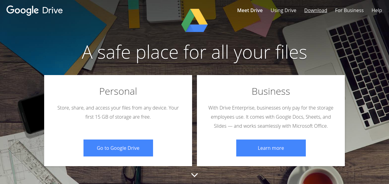 Best file sharing software - Google Drive