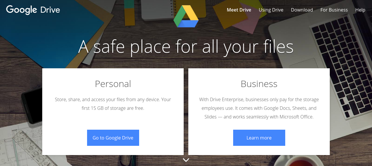 Google Drive as work from home tools