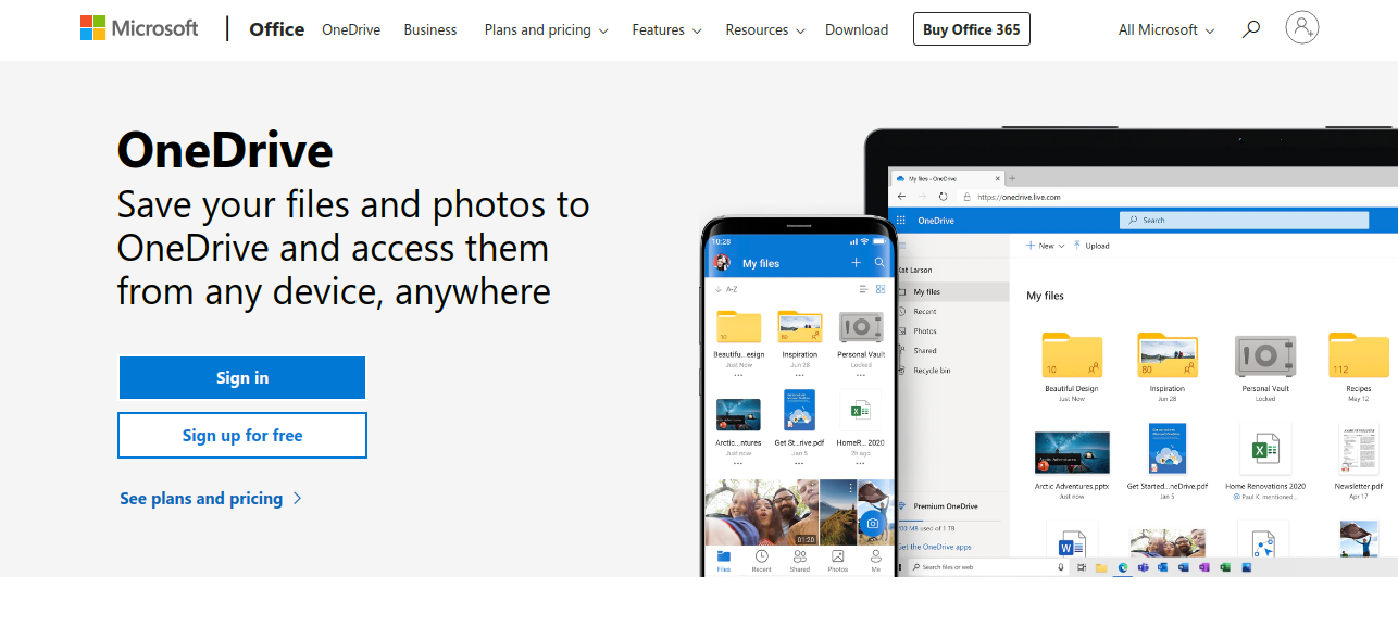 Work from home tools Microsoft onedrive