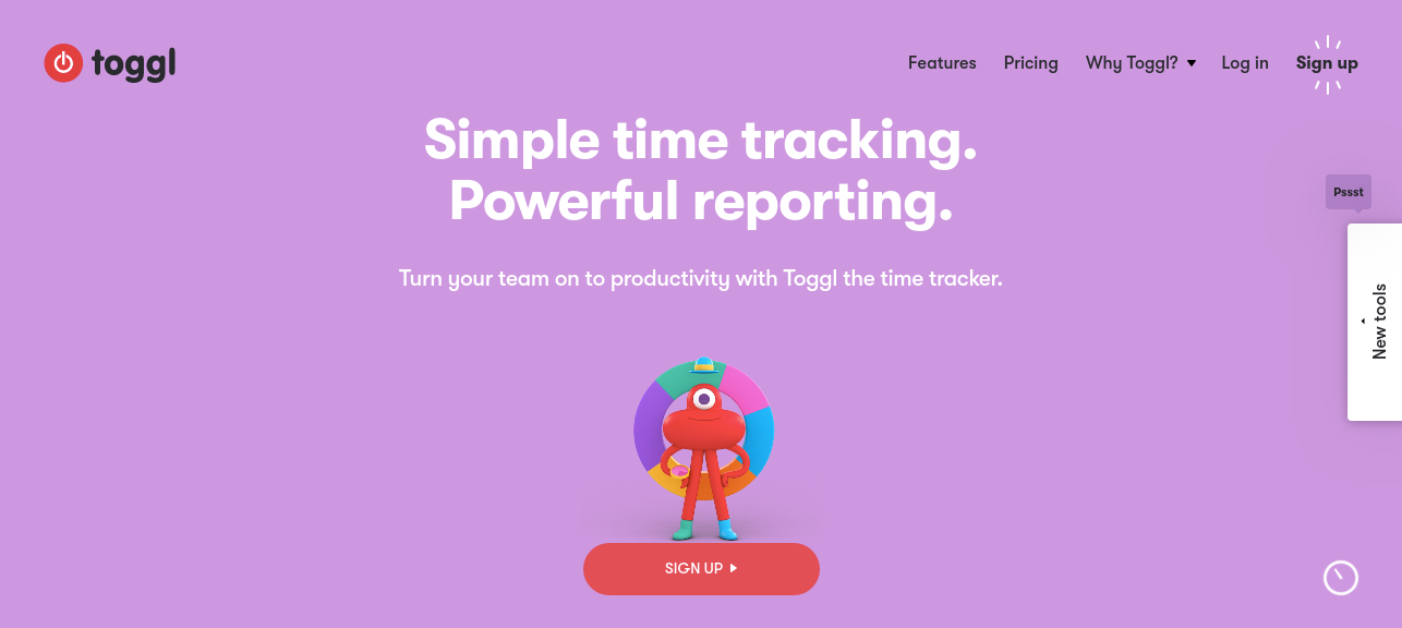 Toggl best work from home tool for time tracking