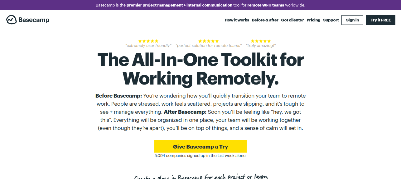 Task and project management tool - Basecamp