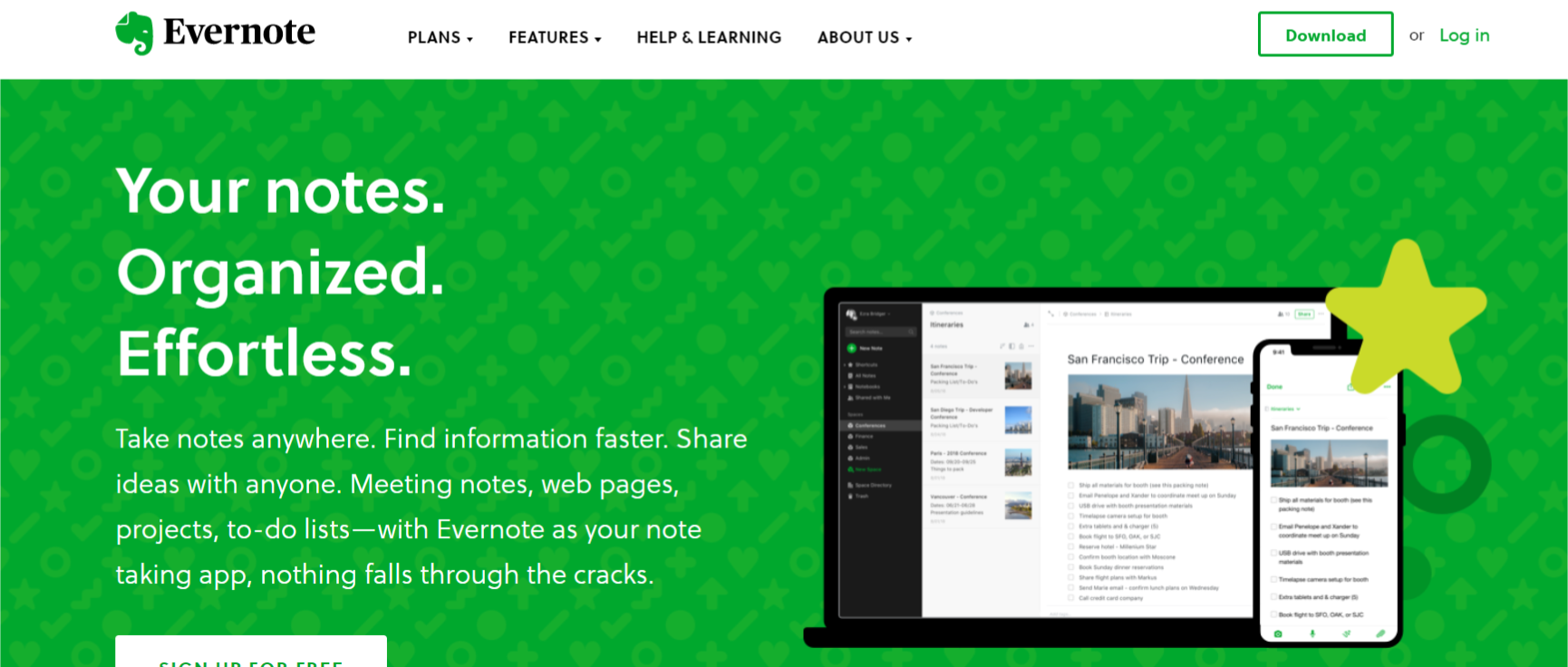 getting things done app evernote