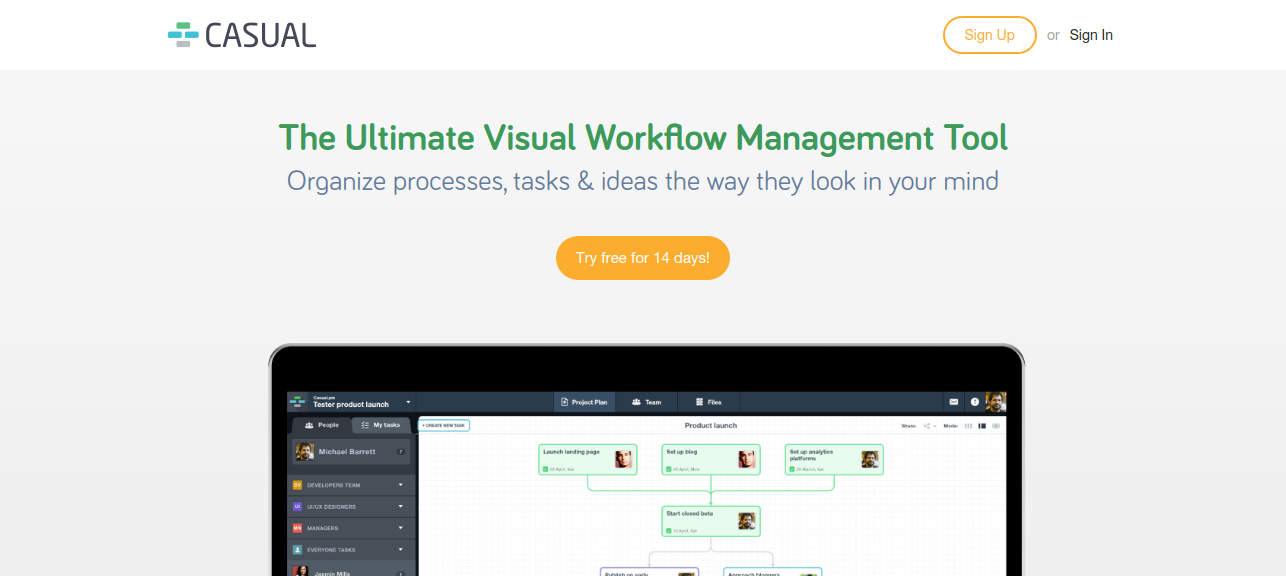 Casual tool for task management