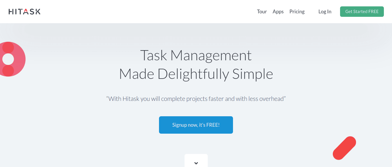 Hitask Easy and free tool for task management