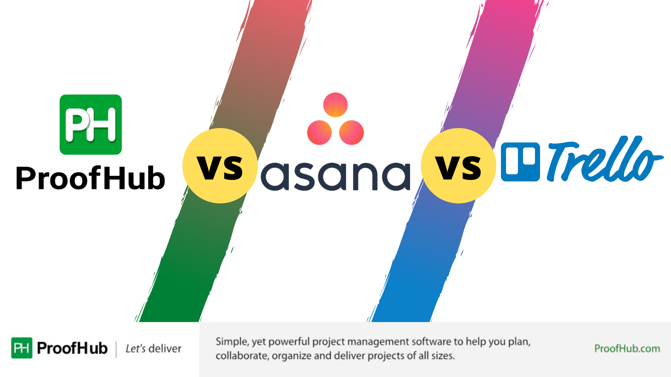 Trello vs Asana vs ProofHub