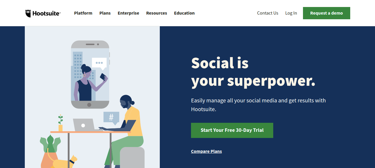 HootSuite (Social Media Marketing) as a saas applications