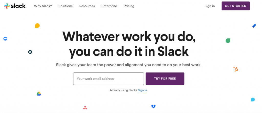 slack as confluence alternative