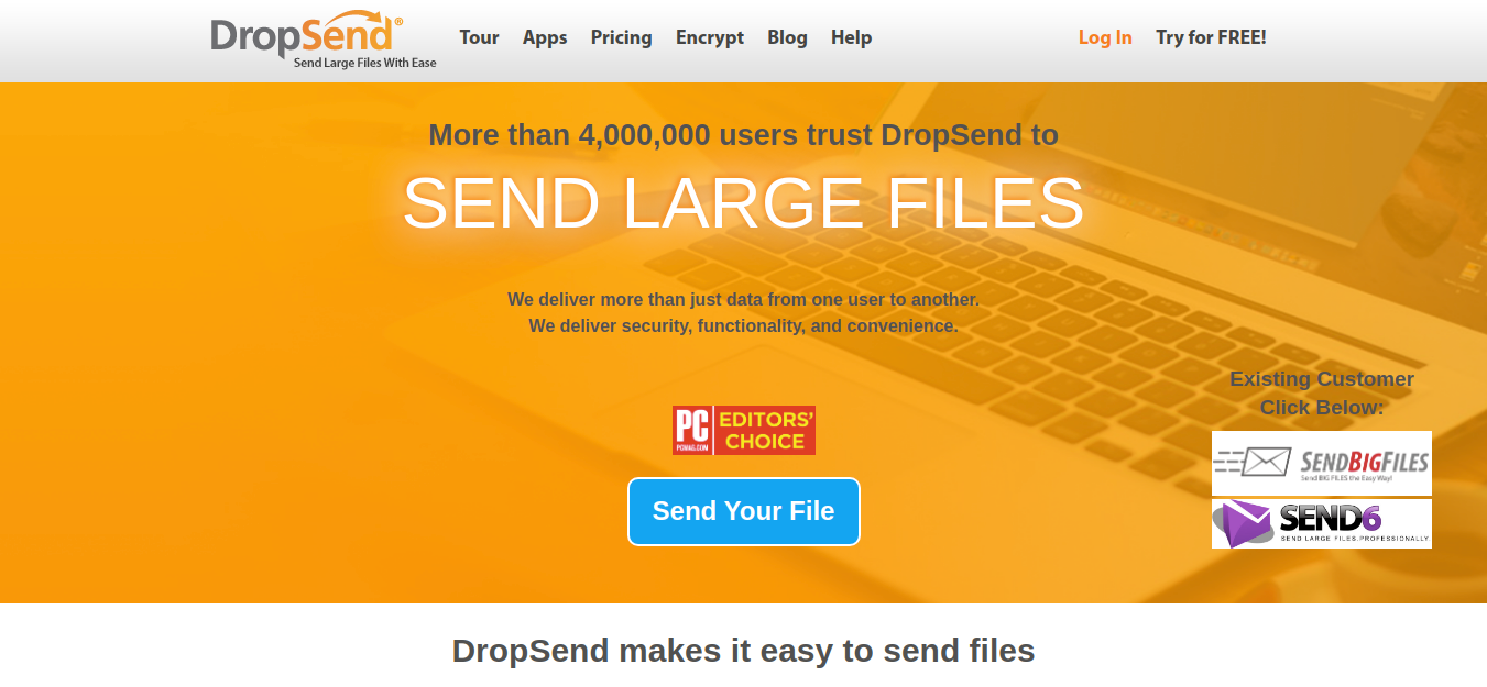 Dropsend as file sharing tool