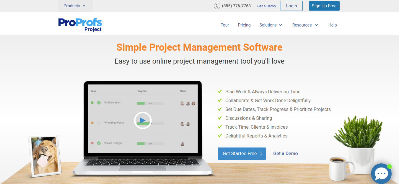 Proprofs project management tool