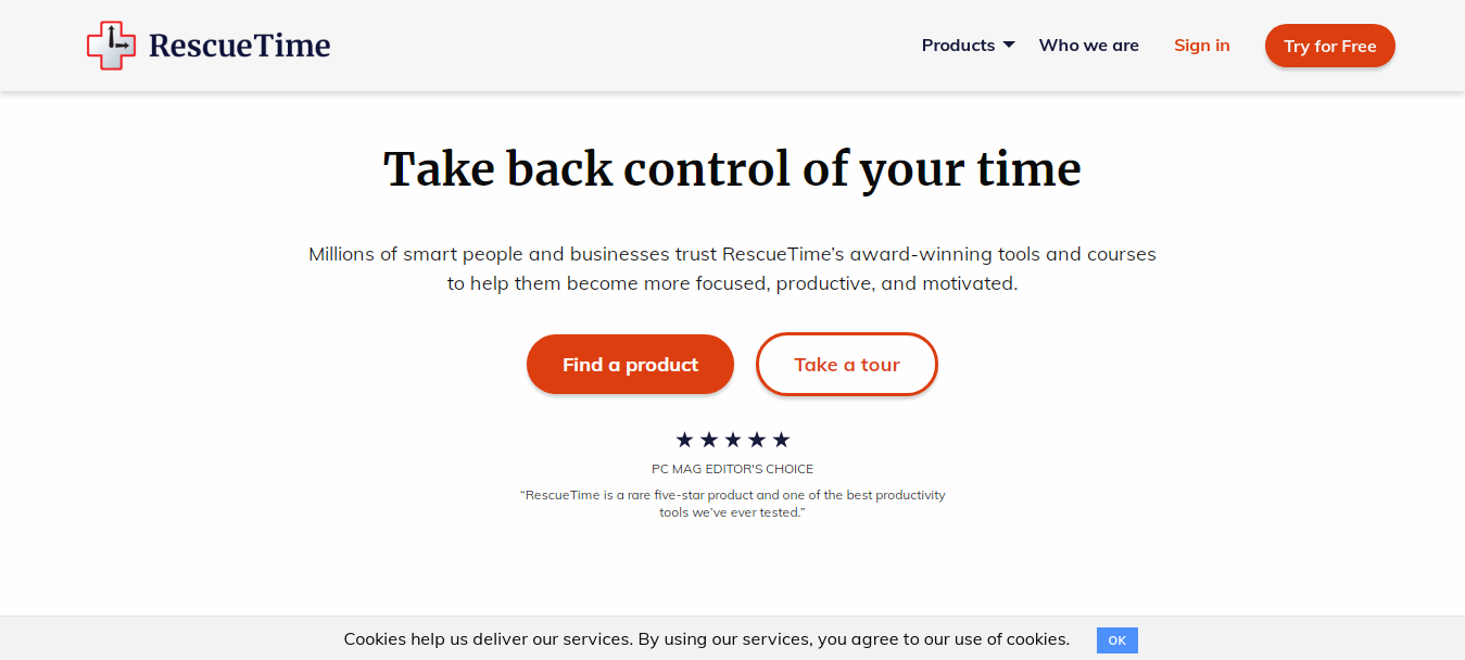 Rescuetime - best and free toggl alternatives