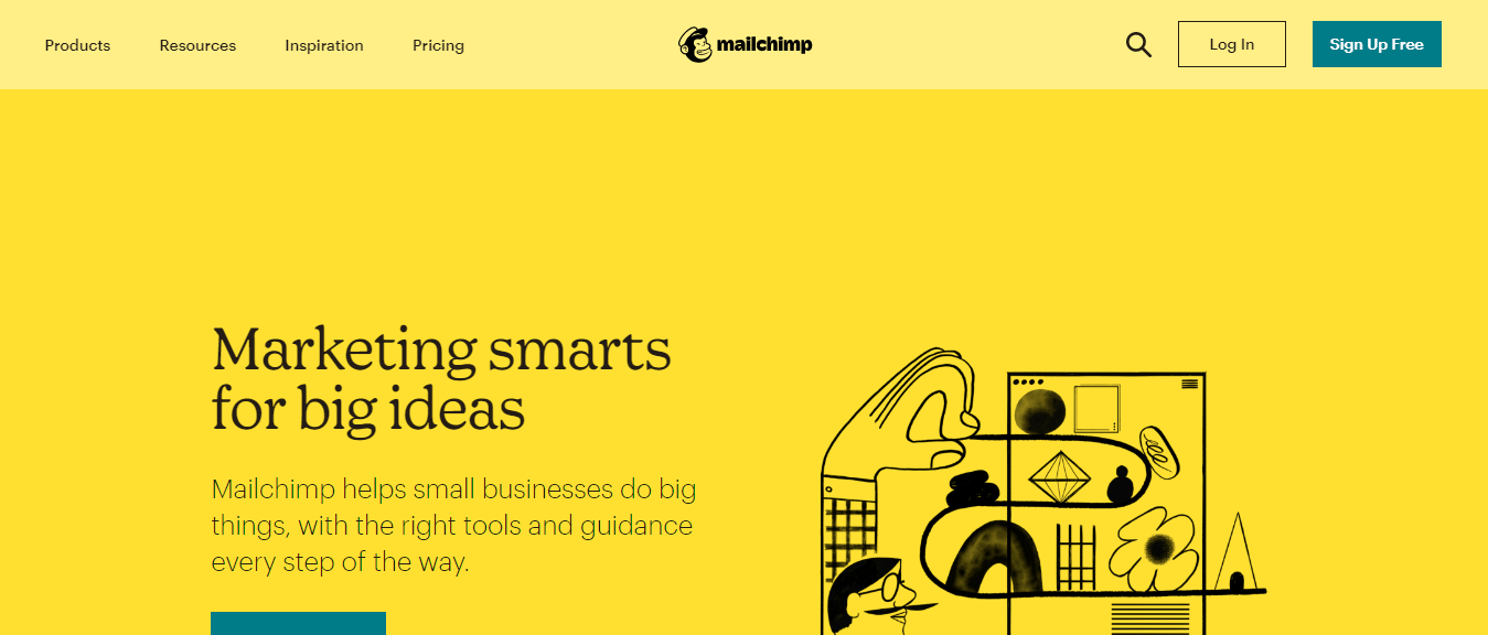 Mailchimp is an all-in-one integrated marketing platform