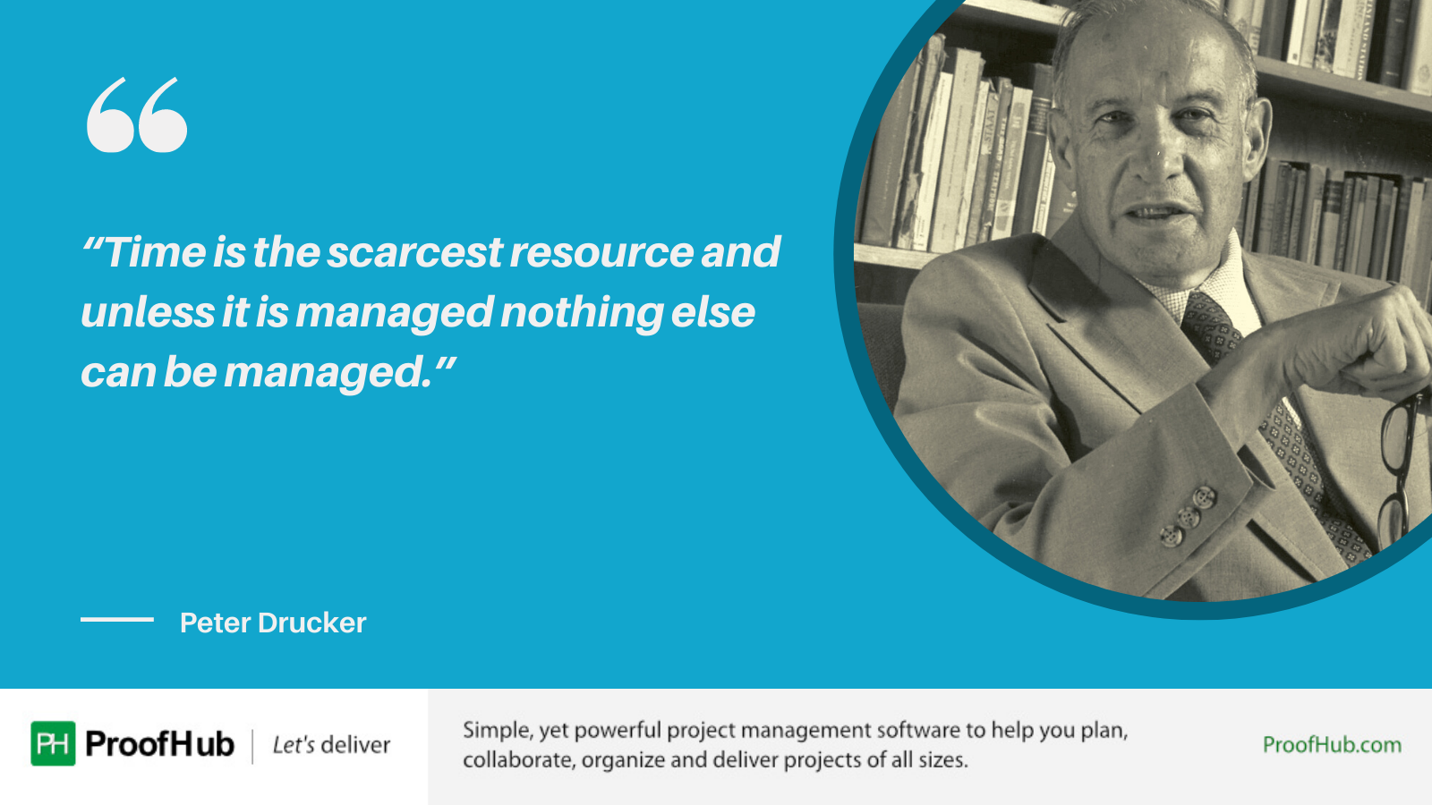 Time is the scarcest resource and unless it is managed nothing else can be managed quote by Peter Drucker