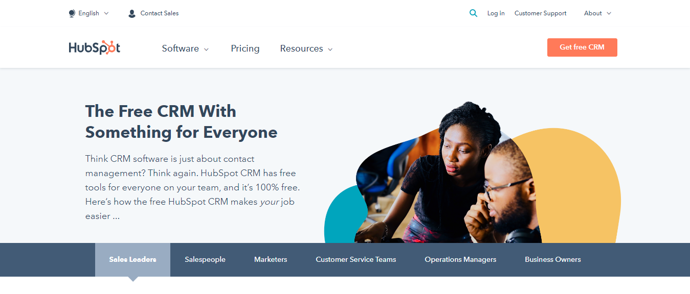 Hubspot CRM tools for marketing professionals for boosting sales activity