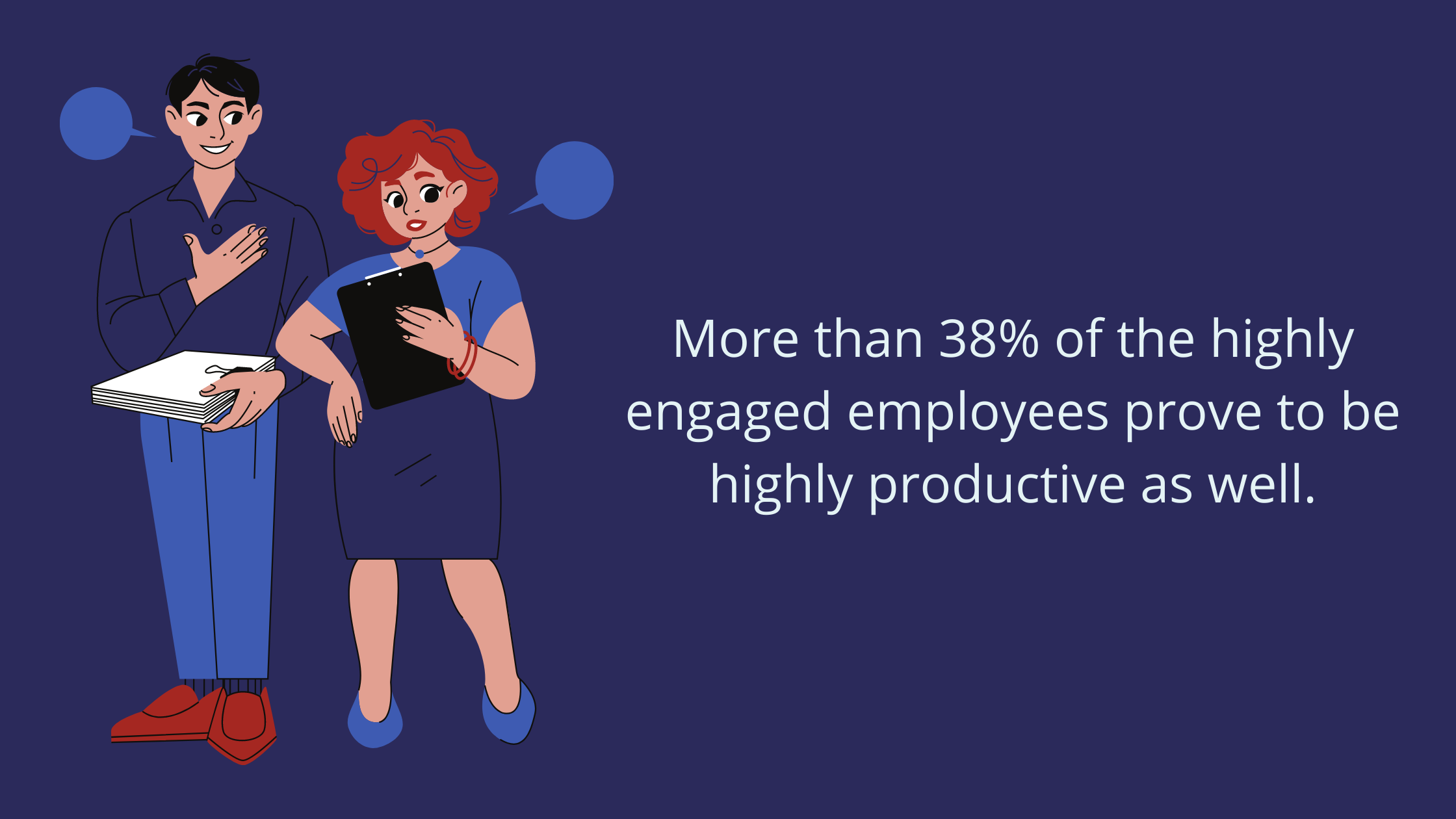 Workplace productivity stats on employee engagement