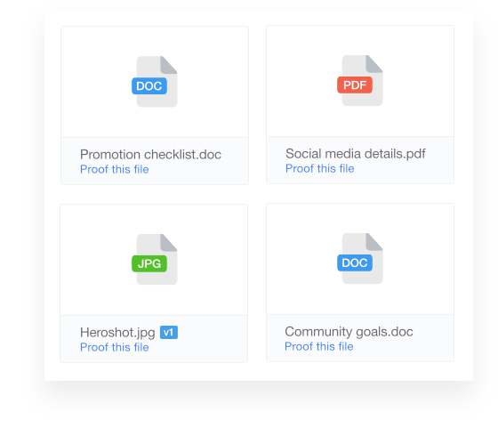 ProofHub files section