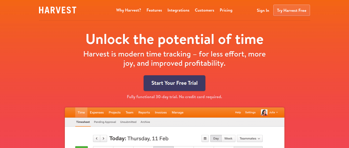 Harvest _ Easy Time Tracking Software With Invoicing