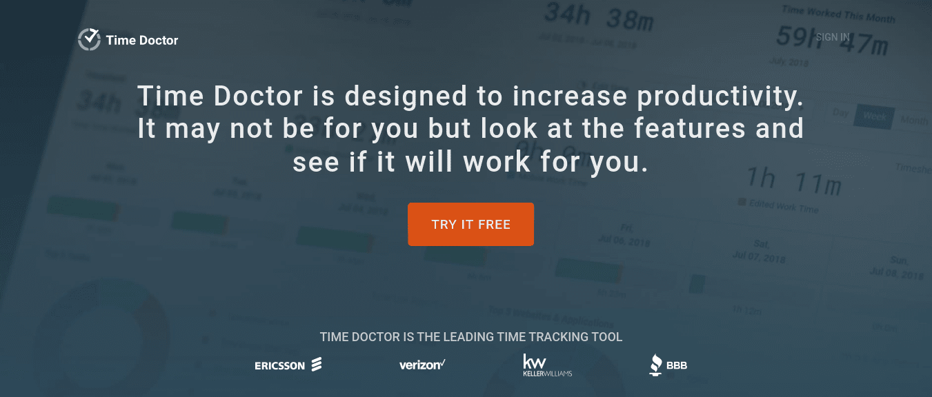 TimeDoctor marketing project management tool