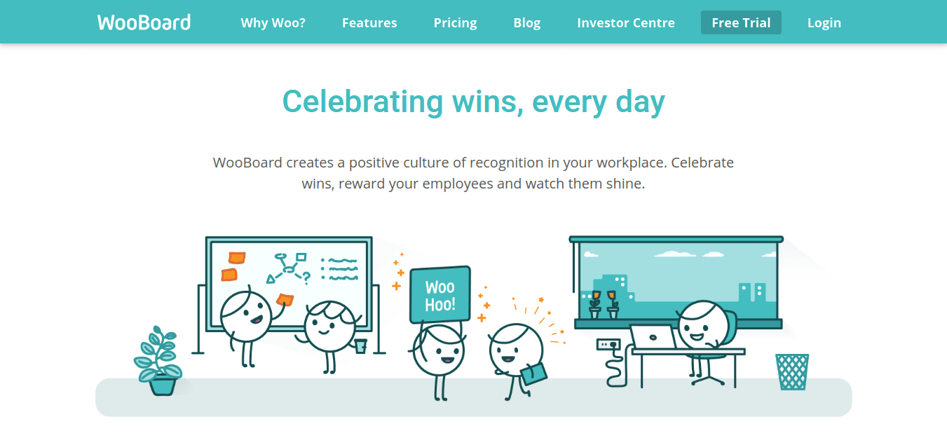 wooboard as marketing tool for Employee Recognition