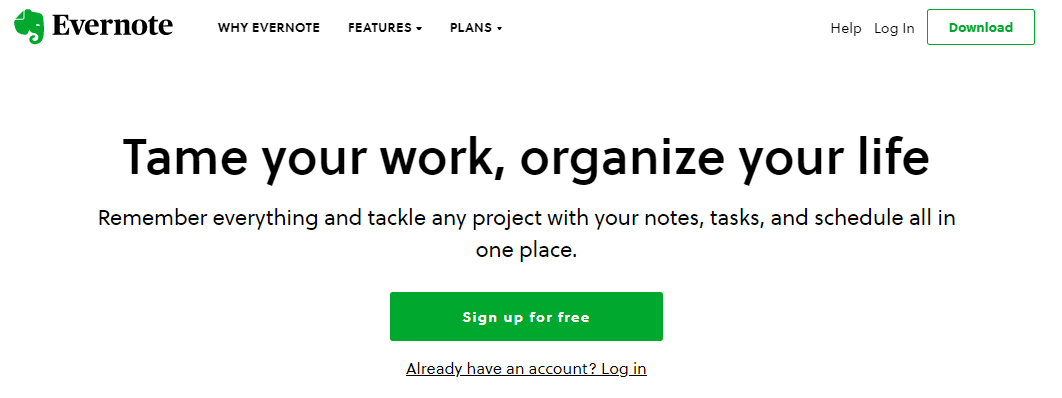 Evernote as Clubhouse.io Alternatives